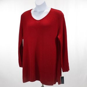Karen Scott Seed Stitch V Neck Tunic